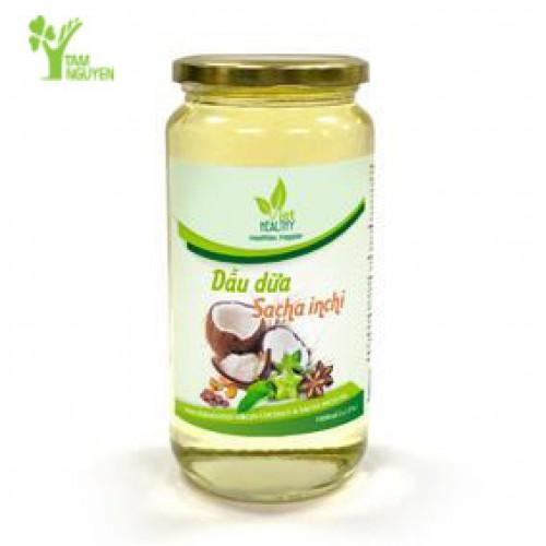 Dầu dừa Sacha Inchi tươi lạnh Viet Healthy 1 lít